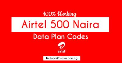 airtel 500 naira data plan code