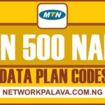 mtn 500 naira data plan code