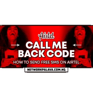airtel call me back code free sms