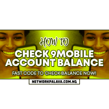 how to check 9mobile account balance code