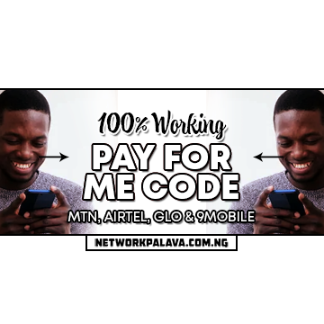 pay for me code for mtn, airtel, glo & 9mobile free