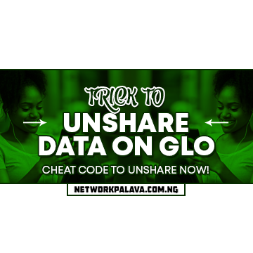 how to unshare data on glo network code