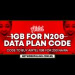 airtel 200 for 1gb data plan code